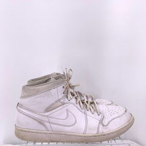 Nike Air Jordan 1 Retro Mid White Men's Size 13